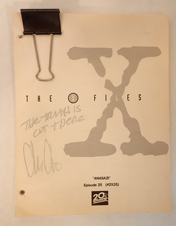 "THE X-FILES, SIGNED SCRIPT, ""ANASAZI"", EPISODE 25. Chris Carter."