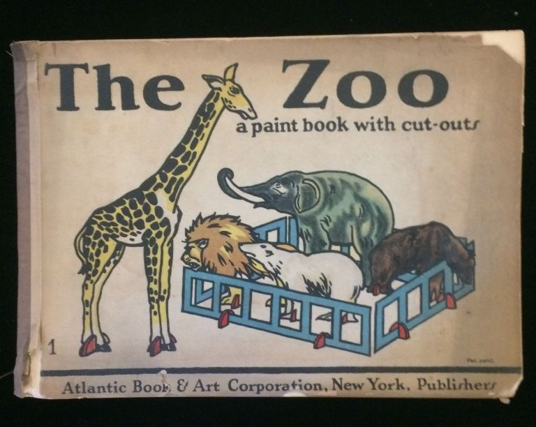 THE ZOO: A PAINT BOOK WITH CUT-OUTS (Orbis Paint Book). Atlantic Book, Art Corporation.