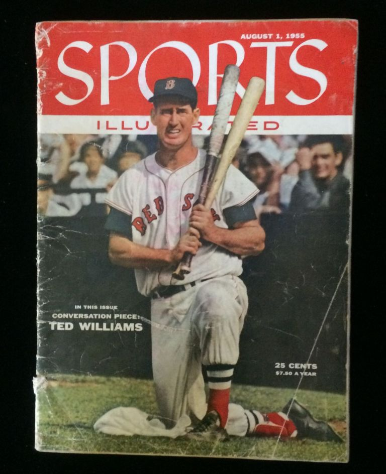 SPORTS ILLUSTRATED August 1, 1955 (Ted Williams cover). Ted Williams, Joan Flynn Dreyspool.