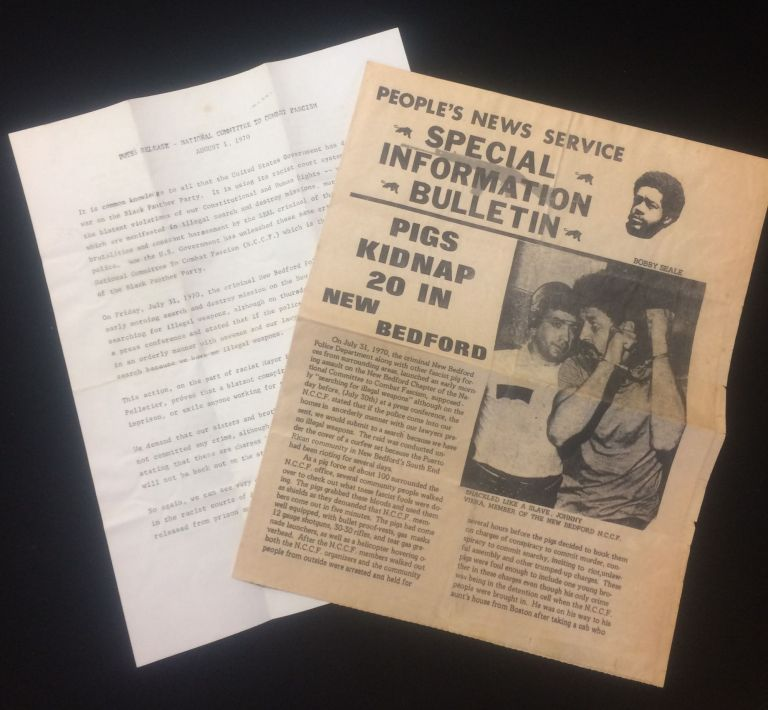 BLACK PANTHER PARTY bulletin newspaper and press release August 1970