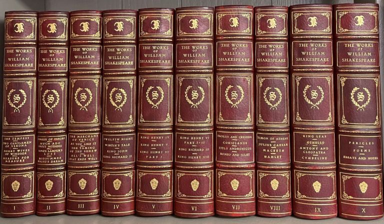 THE WORKS (10 volumes). William SHAKESPEARE.