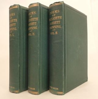 THE POEMS OF ELIZABETH BARRETT BROWNING (complete in 3 volumes)