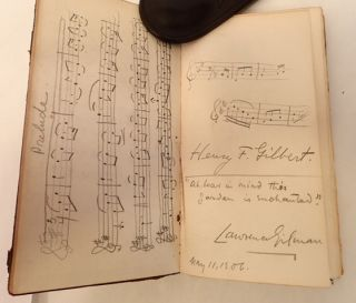DAVIES ORIGINAL SKETCH - GILBERT ORIGINAL MUSIC in DEIDRE AND THE SONS OF USNA. William Sharp, Arts Keltic Music, Letters.