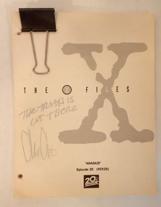 "THE X-FILES, SIGNED SCRIPT, ""ANASAZI"", EPISODE 25. Chris Carter"