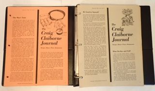 THE CRAIG CLAIBORNE JOURNAL (36 issues). Craig Claiborne