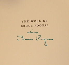 THE WORKOF BRUCE ROGERS: A CATALOGUE
