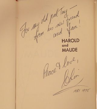 HAROLD AND MAUDE. London: Heinemann, 1971.
