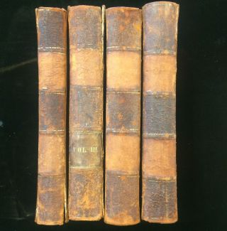 The History of the Decline and Fall of the Roman Empire with Notes by the Rev. H. H. Milman. (4 volumes complete)