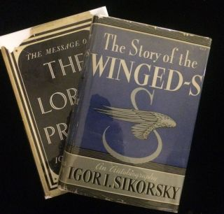 COLLECTION OF LETTERS AND BOOKS SIGNED BY IGOR SIKORSKY including THE STORY OF THE WINGED-S. Igor...