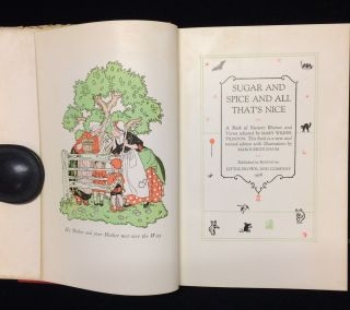 SUGAR AND SPICE AND ALL THAT'S NICE. Mary W. Tileston, Margeurite Davis, illustrations