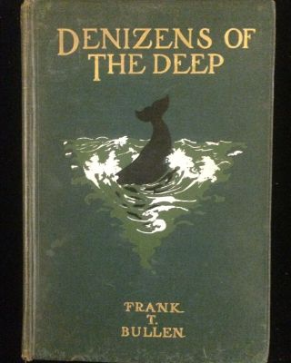 DENIZENS OF THE DEEP. Frank T. Charles Livingston Bull Bullen, Theodore Carreras, illustrations