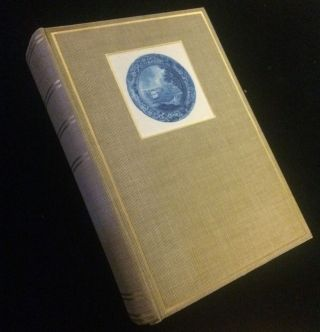 Pictures of Early New York on Dark Blue Stafford Shire Pottery. R. T. Haines Halsey