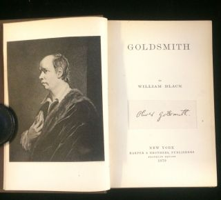 OLIVER GOLDSMITH. William Black