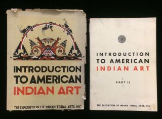 Introduction to American Indian Art. Part I and II (2 volumes). Frederick Webb . Spinden Hodge,...