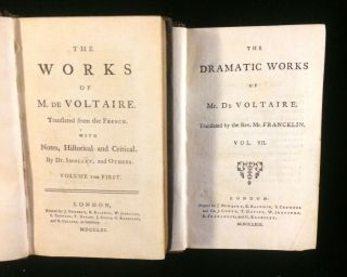 THE WORKS OF VOLTAIRE (35 volumes)