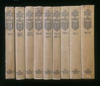 The Odes and Epodes of Horace With Latin Text Edited by Clement Lawrence Smith (9 volumes,...