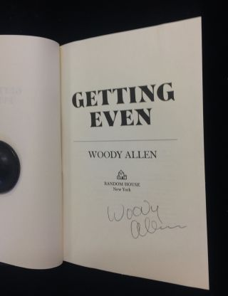 GETTING EVEN. Woody Allen