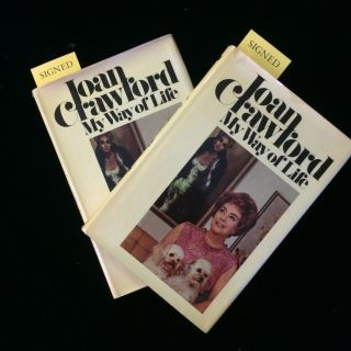MY WAY OF LIFE (2 copies) each with a TNS laid-in. Joan Crawford