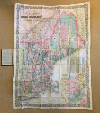 G. Woolworth Cotton's Railroad, Township & Distance Map of New England With Adjacent Portions of...