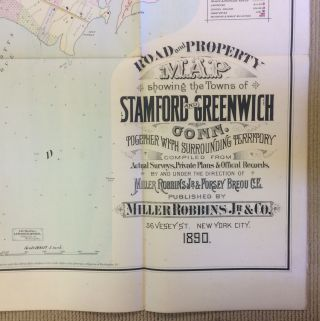 MAP OF GREENWICH AND STAMFORD, CONNECTICUT